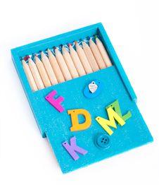 Free Box Of Crayons Royalty Free Stock Photos - 33965938