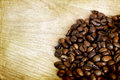 Free Coffee Beans On Vintage Wooden Background Stock Image - 33972331