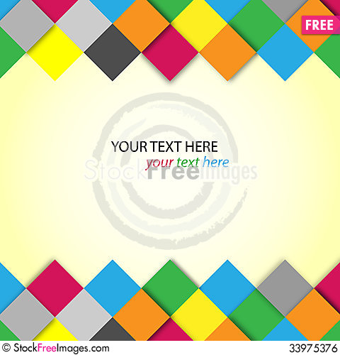 Free Abstract Colorful Blocks With Place For Text Royalty Free Stock Image - 33975376