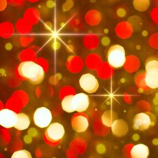 Free Red Golden Glowing Background. Christmas Card. Stock Photo - 33975880