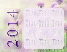 Free 2014 Calendar Stock Photos - 33976413