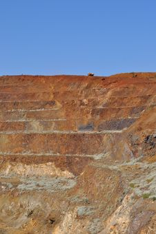 Free Open Pit Mining With Truck Australia Stock Photography - 33979292