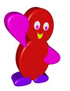 Free Red Cartoon Character Waving Stock Photos - 33981453