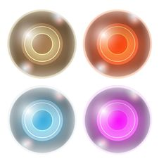 Free Four Abstract Ball Royalty Free Stock Images - 33985109