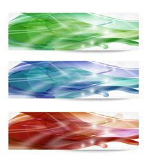 Free Three Abstract Banner Stock Photo - 33985480