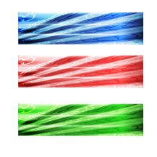 Free Three Abstract Banner Royalty Free Stock Images - 33987209