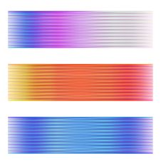 Free Three Abstract Banner Royalty Free Stock Images - 33987269