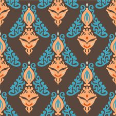 Free Damask Seamless Pattern Vector Stock Images - 33989074