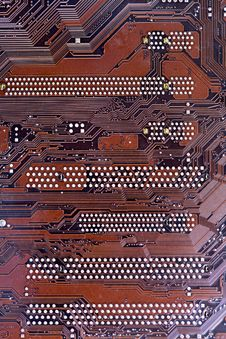 Close-up Shot Of A Computer Motherboard Stock Photography