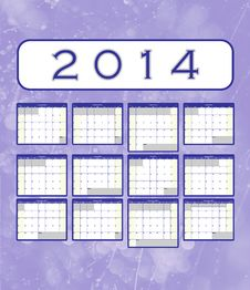 2014 Calendar Notes Royalty Free Stock Image