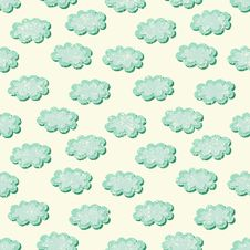 Free Clouds Shabby Seamless Pattern Stock Photos - 33994863