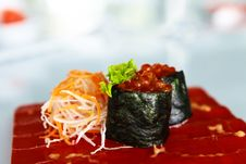 Free Sushi With Caviar Stock Images - 33995014