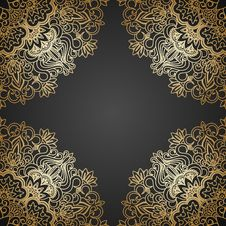 Free Vector Gold Ornament. Stock Photos - 33996093
