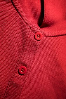 Close-up Of Red T-shirt Royalty Free Stock Photos