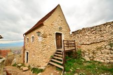 House Inside The Medieval Fortress Of Rasnov. Stock Image