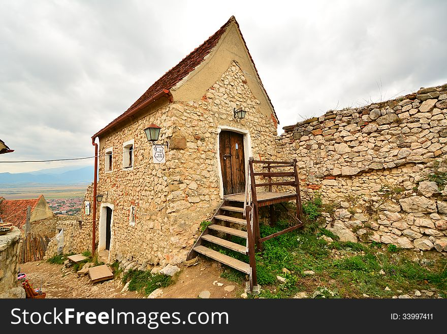 House inside the medieval fortress of Rasnov.