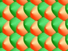 Free 3D-green/orange Pattern Stock Photography - 344842
