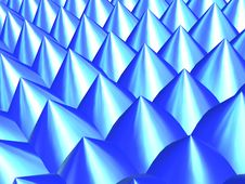 Free 3D-Chrome Blue Peaks Royalty Free Stock Photo - 344845