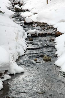 Free Snowy Stream Royalty Free Stock Images - 345119