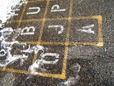 Free Hopscotch In The Winter Stock Image - 345931