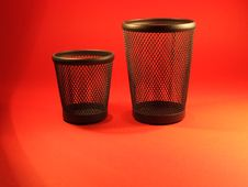 Free Two Pen Cups Royalty Free Stock Photo - 346345