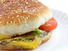 Free Cheeseburger Royalty Free Stock Photo - 349605