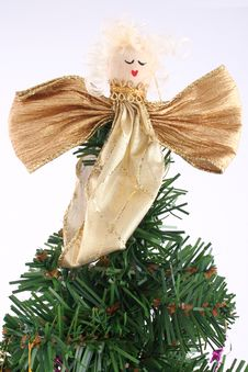 Free Christmas Tree Angel Royalty Free Stock Image - 349846