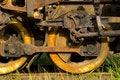 Free Old Rusty Steam Train Wheels Stock Photo - 3406220