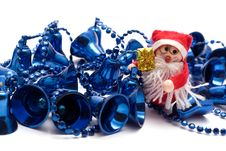 Free Blue Christmas Bells Royalty Free Stock Images - 3400049