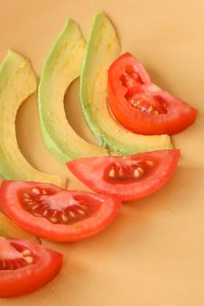 Salad Slices Royalty Free Stock Image