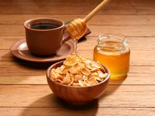 Free Healthy Breakfast With Honey Stock Images - 3400454