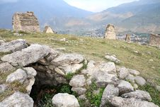 Ruins Of Ancient Settlement In The Caucasus Royalty Free Stock Images