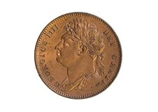 Free Farthing Of George IIII Stock Photo - 3401390