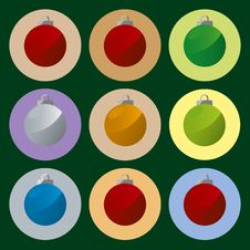 Free Xmas Balls (vector) Royalty Free Stock Photo - 3401525