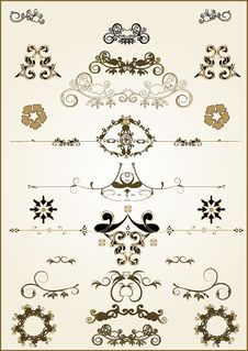 Free Floral  Frame Elements Stock Photo - 3402040