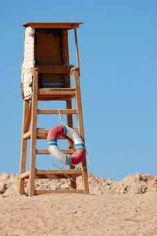 Sun Chair On The Beach Stock Photography
