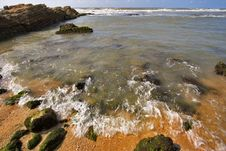 Free Stone Ledge In The Sea Stock Photos - 3403473