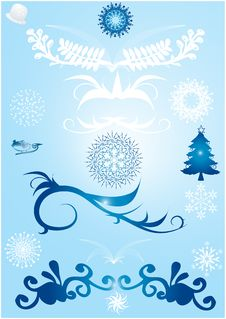 Free Winter Design Elements Stock Image - 3403991
