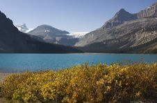 Free Bow Lake In Autumn Stock Photo - 3404730