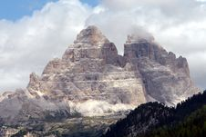 Free Dolomiti Twin Stones In Mountains Royalty Free Stock Photo - 3405525