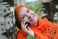 Free Woman Talking In Mobile-phone Stock Image - 3406071