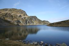Rila Mountain And Kidney Lake Stock Images