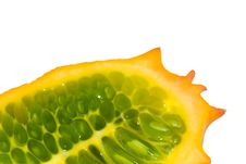 Free Kiwano Isolated Stock Photography - 3409372