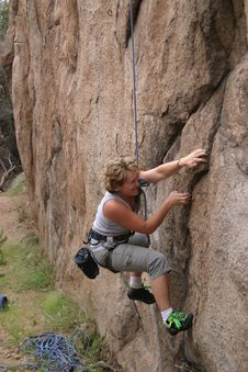 Free Climbing Action Stock Photos - 3409703