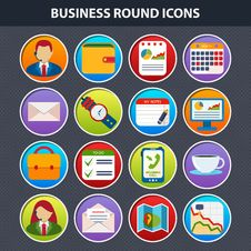 Free Flat Icons For Web And Mobile App Royalty Free Stock Photos - 34000428