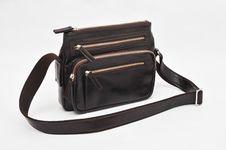 Black Shoulder Bag Royalty Free Stock Photos