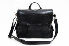Black Shoulder Bag Royalty Free Stock Images