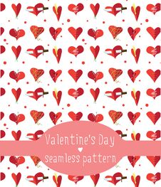 Free Hearts Seamless Pattern Royalty Free Stock Images - 34004009