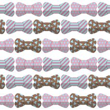 Bow Seamless Hipster Pattern Royalty Free Stock Image