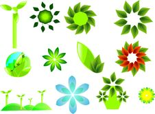 Free Vector Set Of Ecological Symbols Stock Photo - 34006040